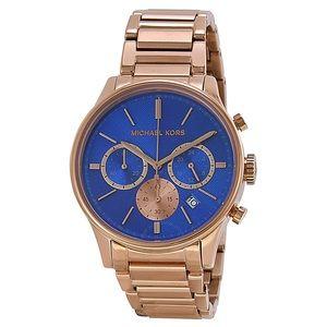 Michael Kora Bailey blue watch